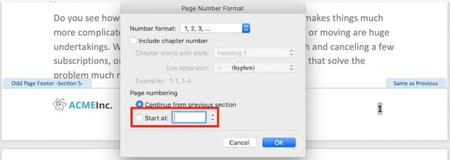 How to fix broken page numbers in Microsoft Word