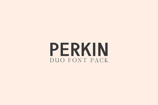 Perkin  Duo Font Pack