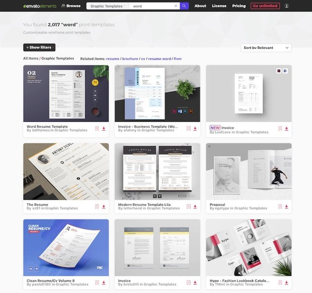 Microsoft Word Templates - Unlimited Downloads at Envato Elements