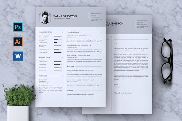 Templates for cover letters in Word - Corporate Lawyer