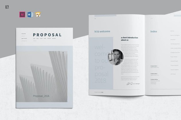 Word template for proposal