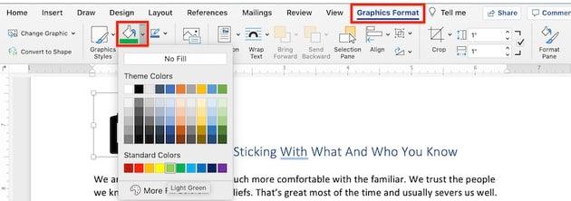Microsoft clip art - change icon color