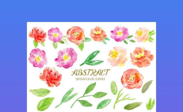 Office clipart - Watercolor Clipart Abstract