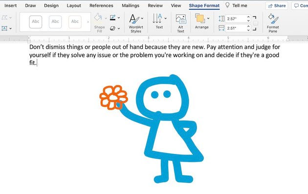 How to Draw in Word - Pen drawing