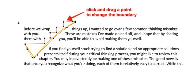 How to draw in Word - Freeform Change the boundary points