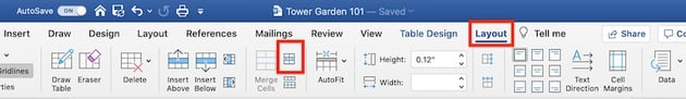 Edit a table in MS Word - Split cells