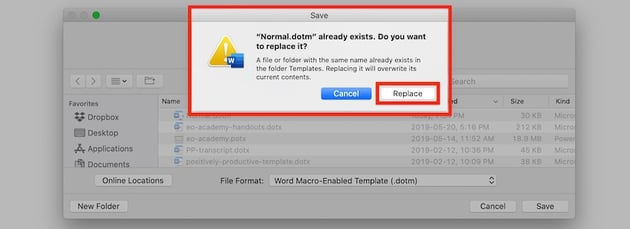 Macros in Word - Replace normal template