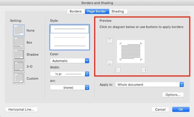 Word borders - Page Border Preview