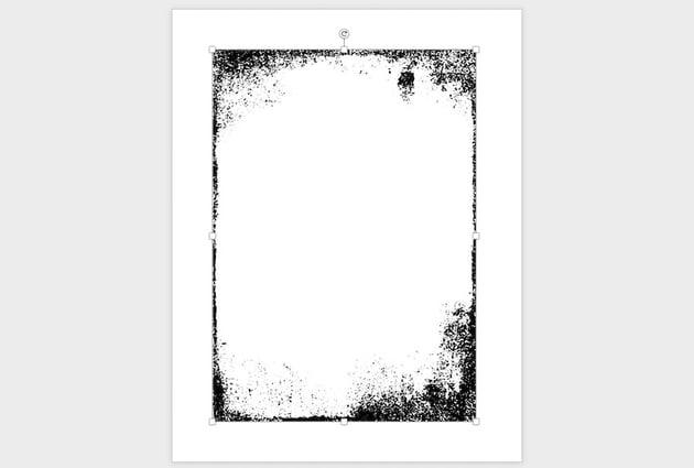 Word borders using image templates
