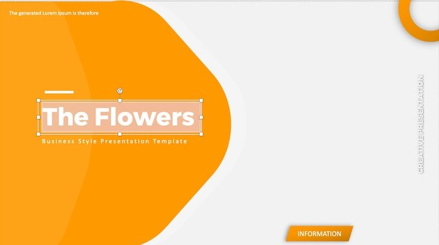 ppt on flowers - add text