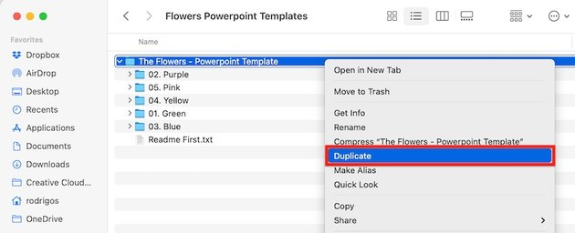 powerpoint templates flowers - duplicate