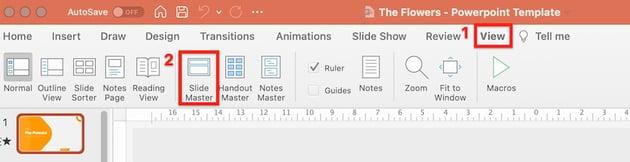 powerpoint templates flowers - slide master