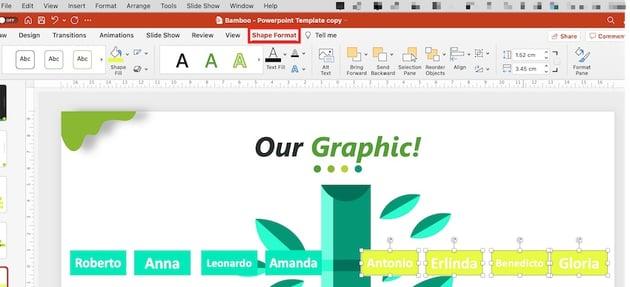 family tree powerpoint - shape format