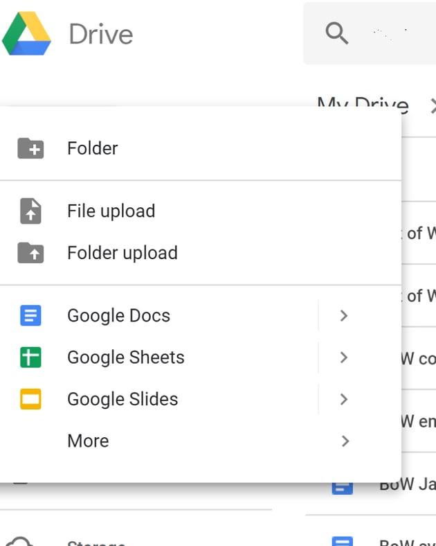 Upload infographic template in Google Slides