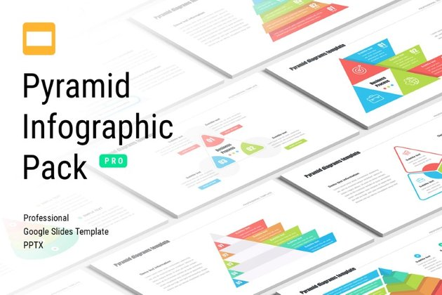 Pyramid Google Slides infographic template