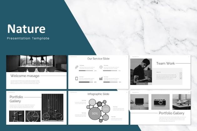 Simple infographic presentation slides - Nature