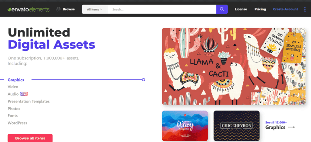 Get unlimited digital assets with Envato Elements