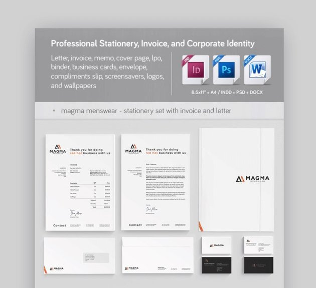 corporate stationery templates