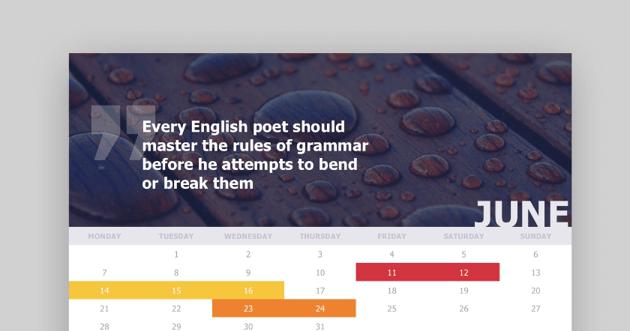 Event PowerPoint template design