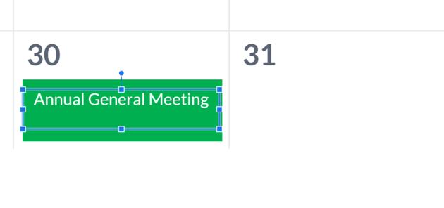 editable calendar for Google Slides