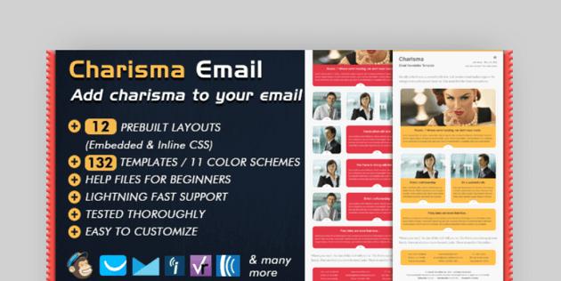 Charisma email newsletter Mailchimp