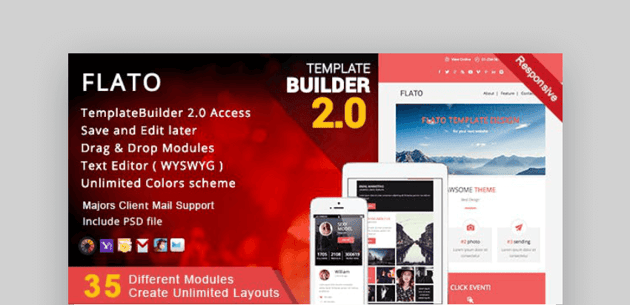 Flato mailchimp email newsletter templates
