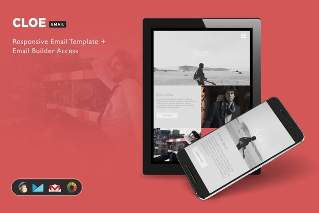 Use Cloe from Envato Elements for newsletter ideas