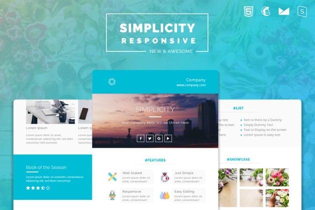 mailchimp templates - Simplicity on Envato Elements