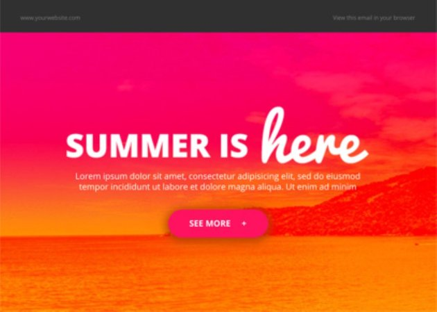 mailchimp free html email templates - Summer