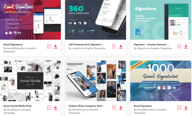 get email footer designs on Envato Elements