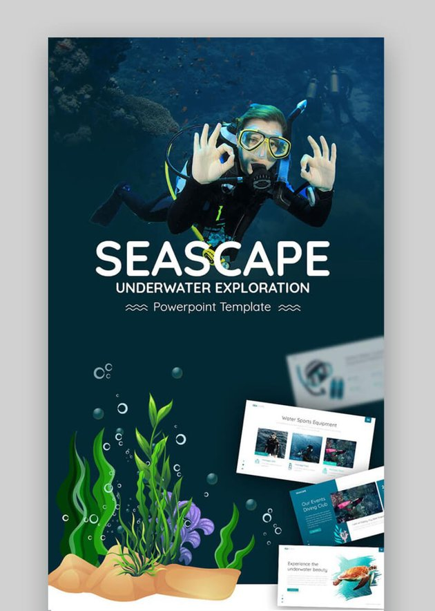 premium business powerpoint templates - seascape