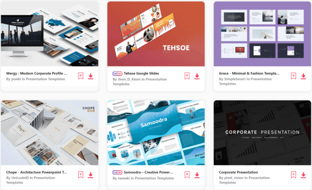 Find corporate powerpoint templates on Envato Elements