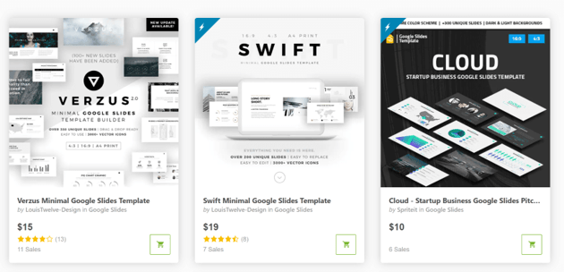 Get PowerPoint templates for one-off presentations on GraphicRiver