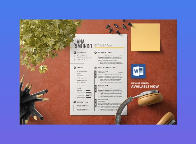 stylish cv template from Envato Elements