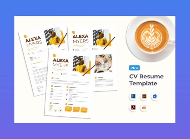 stylish resume template from Envato Elements