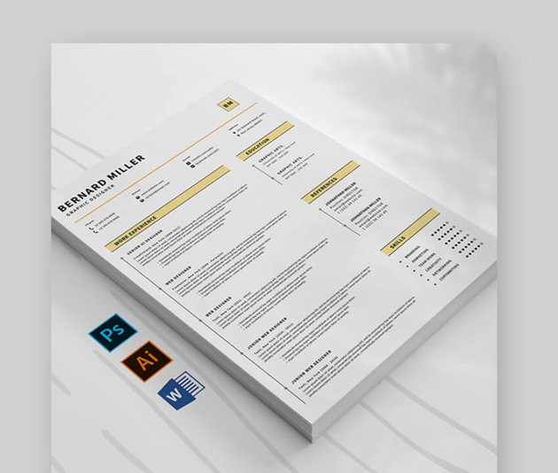 attractive resume for corporate use