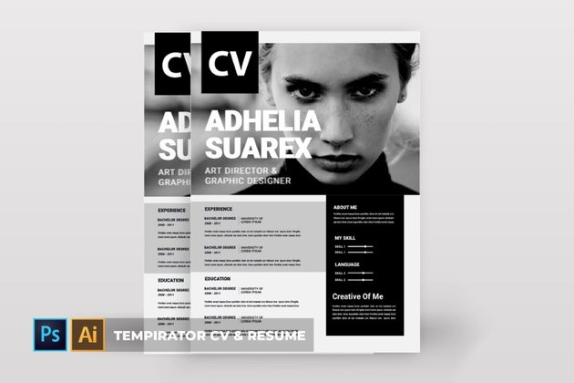 Attractive CV and resume templates