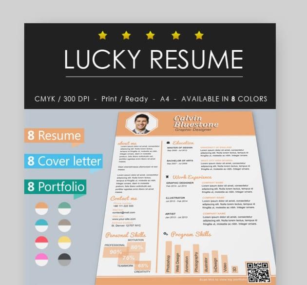 lucky modern resume template