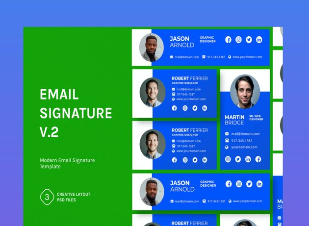 free email signature psd