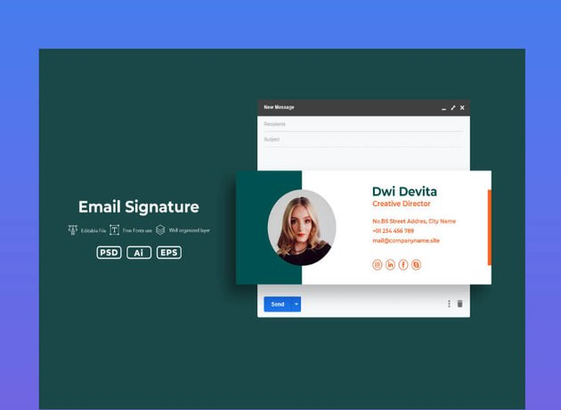 html email signature template