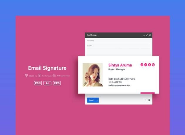SRTP email signature template