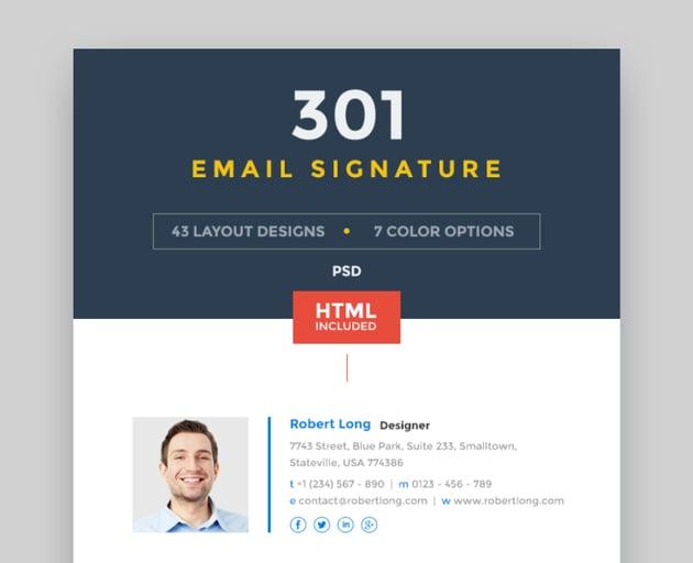 301 email signature templates