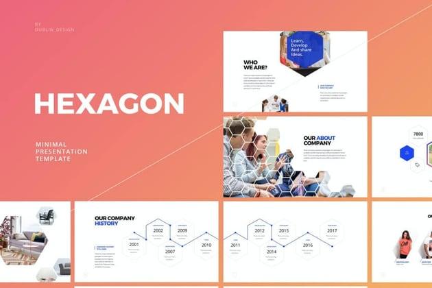 hexagon leadership qualities ppt download