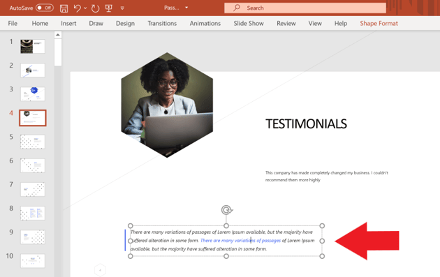 How to Remove Unwanted Elements from a leadership powerpoint presentation