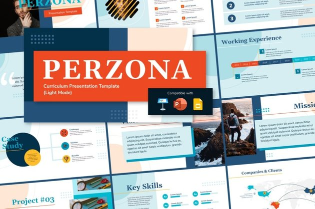 perzona  ppt template for self introduction