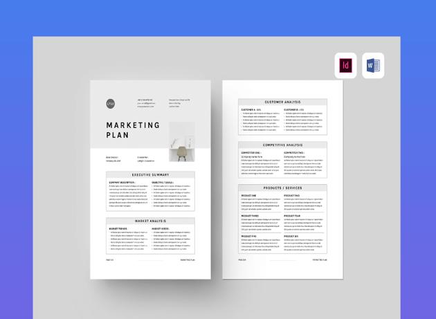 basic marketing plan template word
