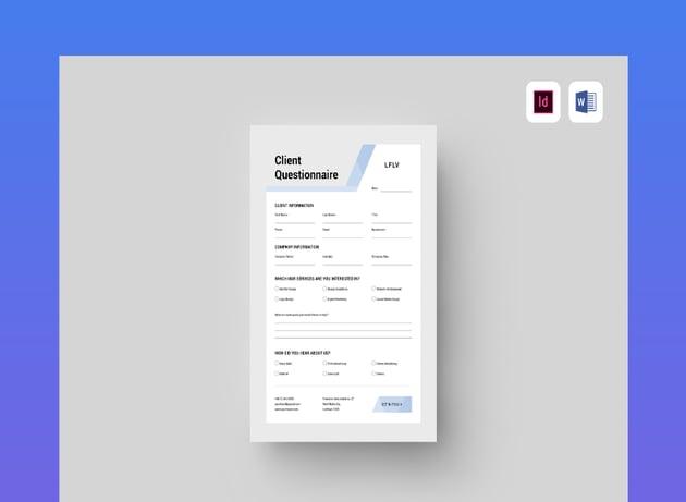 questionnaire format doc