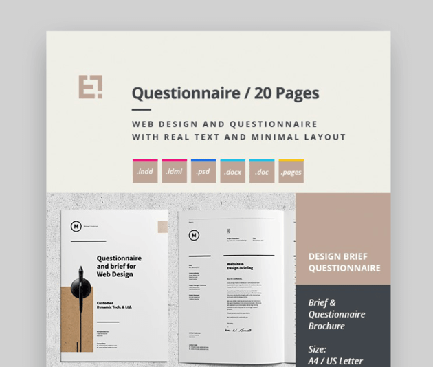 questionnaire template word