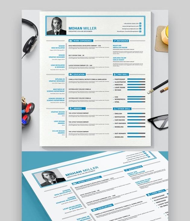 unique clean resume templates