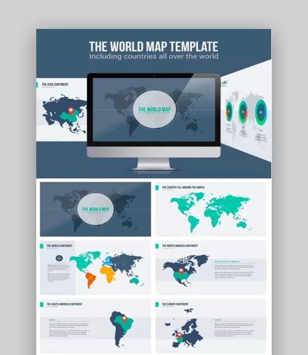 powerpoint world map